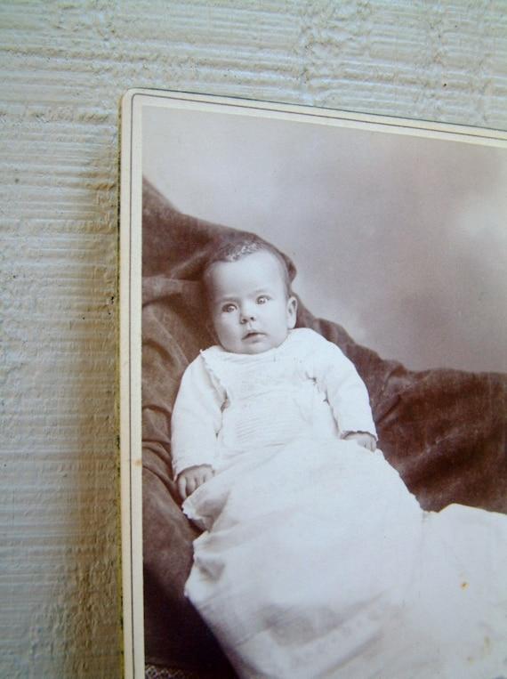 Brainerd Photographers Old Photo Tintype Photography Steampunk Decor Paper Ephemera Victorian Antique Baby Photo in Sepia Black /& White J.M