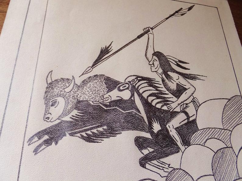 1970s Folk Art Drawing