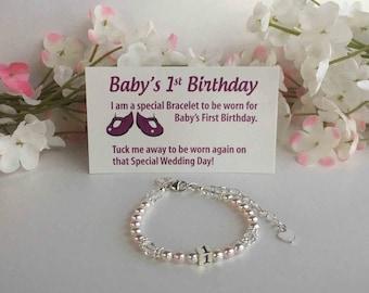 Baby's 1st Birthday Bracelet Baby to Bride® Poem