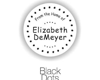My Kitchen -- Black Dots -- Vinyl Kitchen Container Labels -- 24 qty.