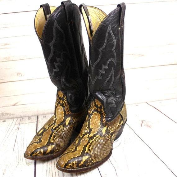Nocona Boots Womens 7 1/2 Snakeskin Cowboy Boots 7
