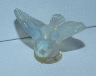 Sabino frosted glass miniature bird figurine, Made in France, Sabino,  Sweet little song bird French Glassware artwork Blue Bird
