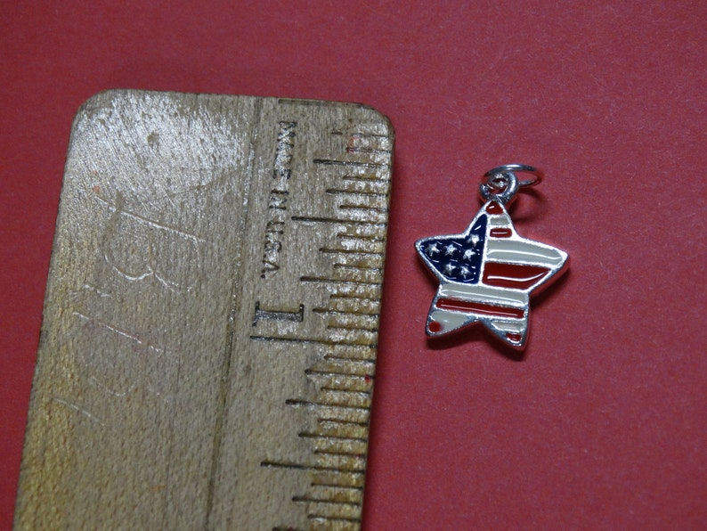 Star Charm Red Silver color Stars /& Stripes White and Blue Patriotic Charm Star Charm Make America Great Charm God Bless America