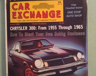 Car Exchange Magazine Aug  1980 Antique Cars Mid Century Pontiac Firebird 1956 Chrysler Chevy Vega Ford Torino Bentley Tucker Chrysler