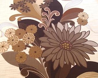 vintage fabric / original 60s fabric / 70s curtain fabric  / home decor /  Giltex of London