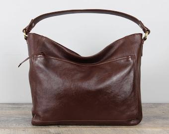 Leather Purse, Hobo, Handbag, Shoulder bag,  Brown