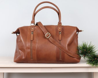 Leather Travel Bag, Leather Weekend Bag, Leather Overnight Bag, Holdall 939e22d303