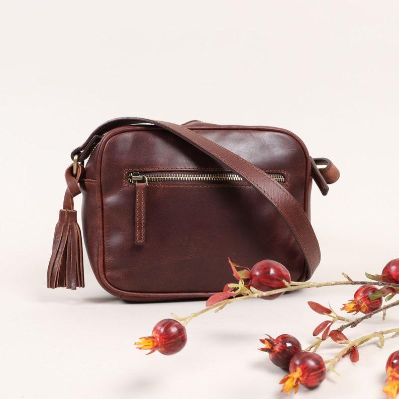 228f379b858f Leather Camera Bag Leather Crossbody Bag Leather Bag