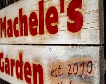 signs, handmade, wood signs, weddings, carved, gardens, garden sign, Mothers day, Art
