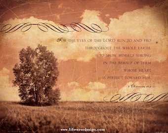 The Eyes of the Lord 2 Chronicles 16 - Scripture Photo Art - Christian Artwork - Inspirational Wall Art - Bible Verse