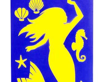Mermaid Underwater Theme Stencil