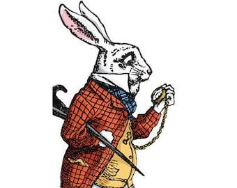 Alice in Wonderland White Rabbit Hatter Notecard with Stickers