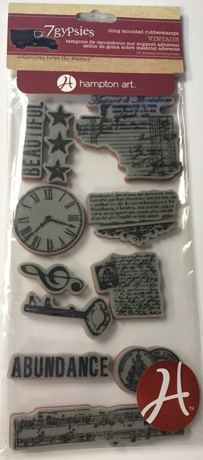 7Gypsies Cling Stamp Abundance Vintage Stamp Collection image 0