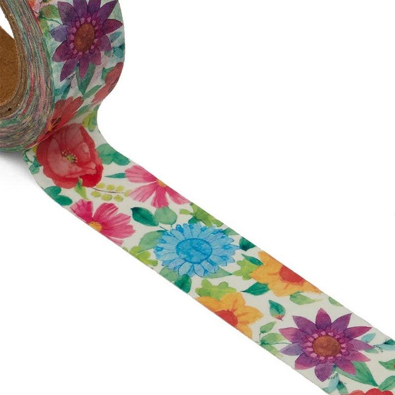 Colorful Flowers Washi Tape image 0