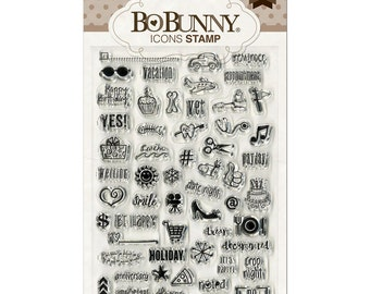 Bo Bunny Clear Acrylic Icon Stamps