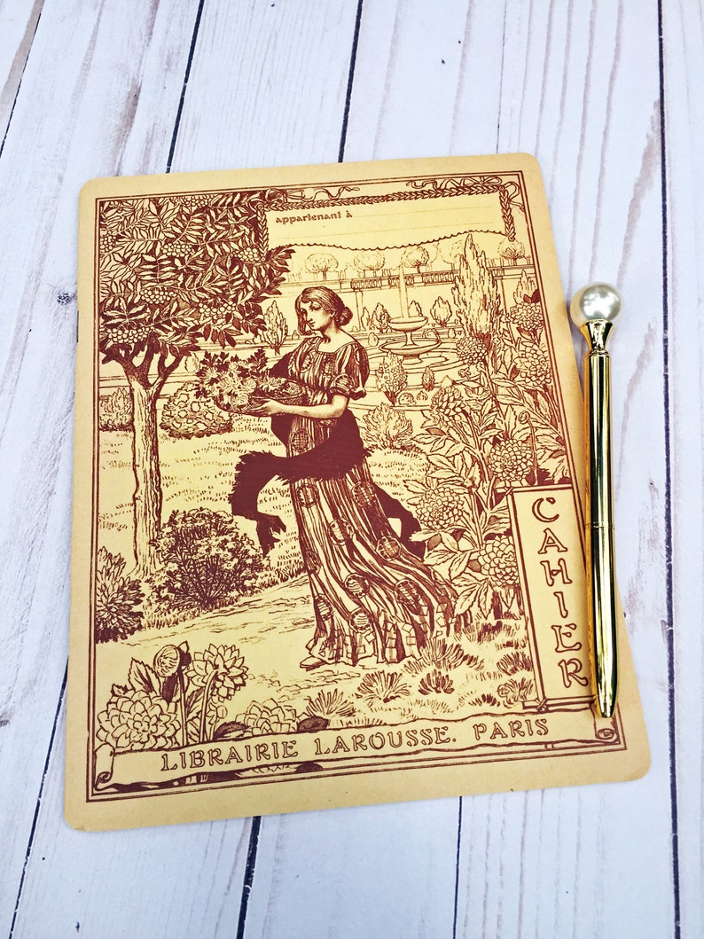 Woman Gardening Lined Journal image 0