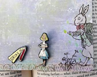 Alice in Wonderland Drink Me Enamel Pin