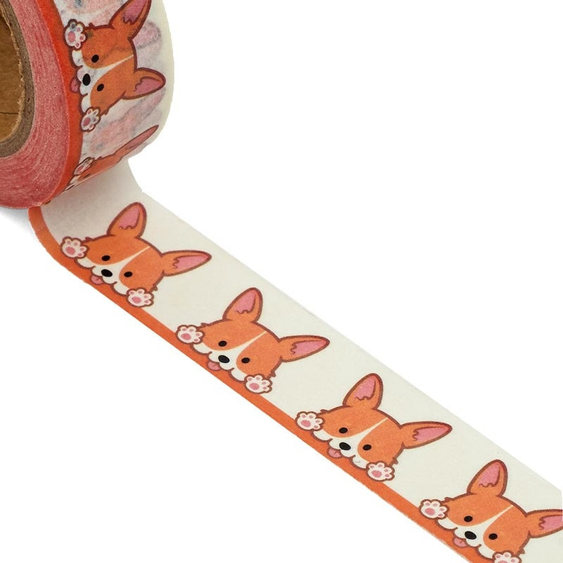 Cutest Corgi Puppies Washi Tape image 0