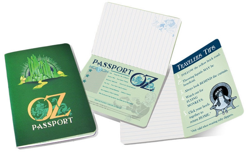 Wizard of Oz Passport Notebook image 0