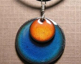 Copper Enamel Necklaces
