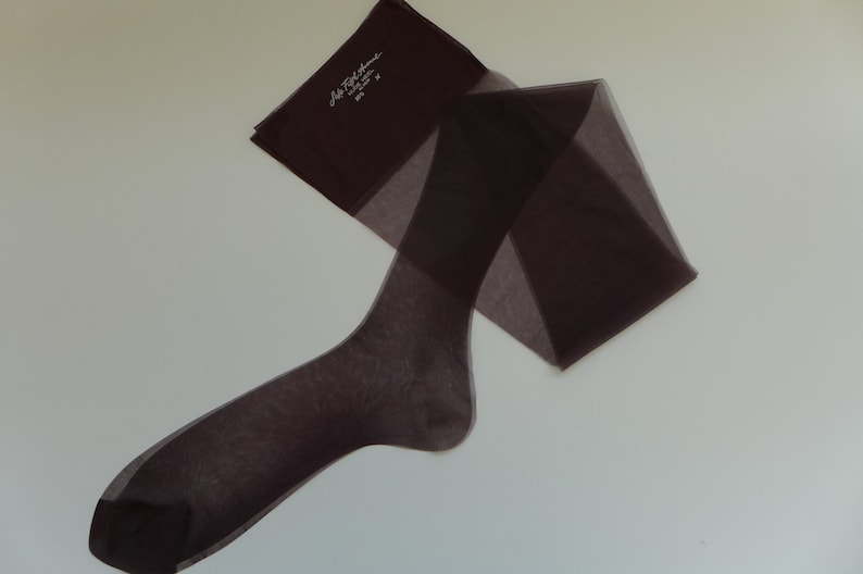 2 Pairs of Vintage Burgundy Seamless Stockings 10.5