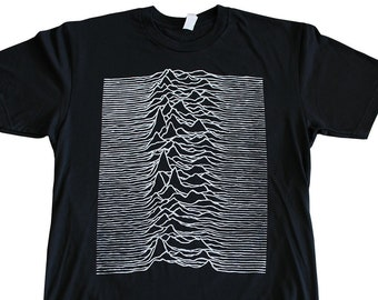 fb75de218 JOY DIVISION unknown pleasures album cover new order new wave post-punk T- shirt