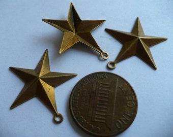 5 Point Star 2 Flat Raw Brass Star Metal Stamping 2 inches Star Filigree Sal 4774