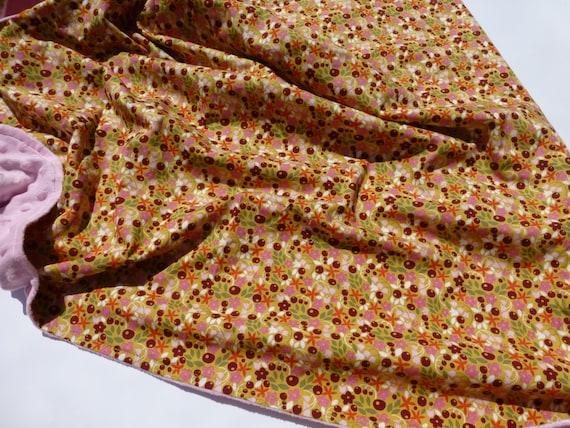 Monaluna Ceramic Minky Lined Blanket Large lined organic cotton blanket