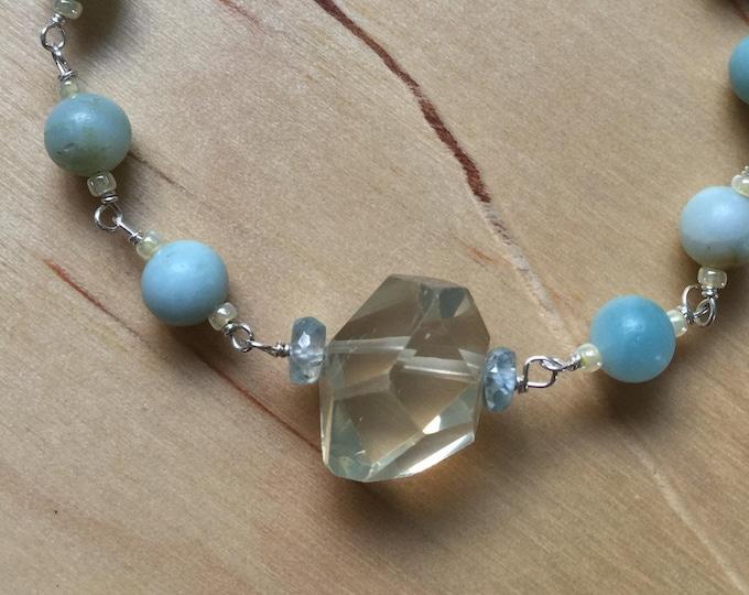 Insouciant Studios Spring Tide Bracelet Natural Zircon Citrine and Amazonite