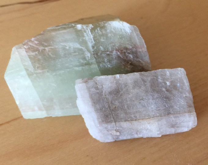 Pair of Zoned Calcite Mineral Specimen Small