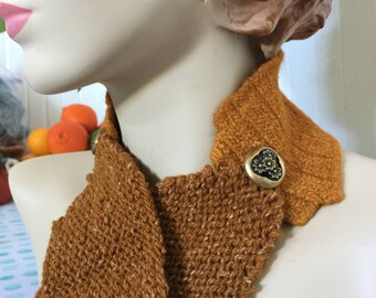Insouciant Studios Bremerton Felted Knit Scarf with Vintage Buttons
