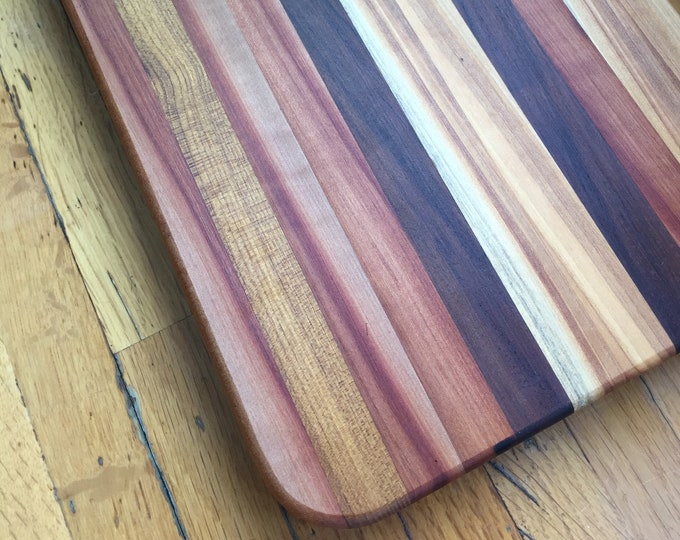 Large Walnut, Cherry, and Black Locust Cutting and Serving Board