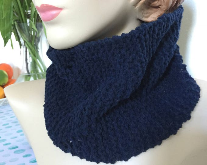 Insouciant Studios Hand Knit Unisex Blue Pullover Scarf