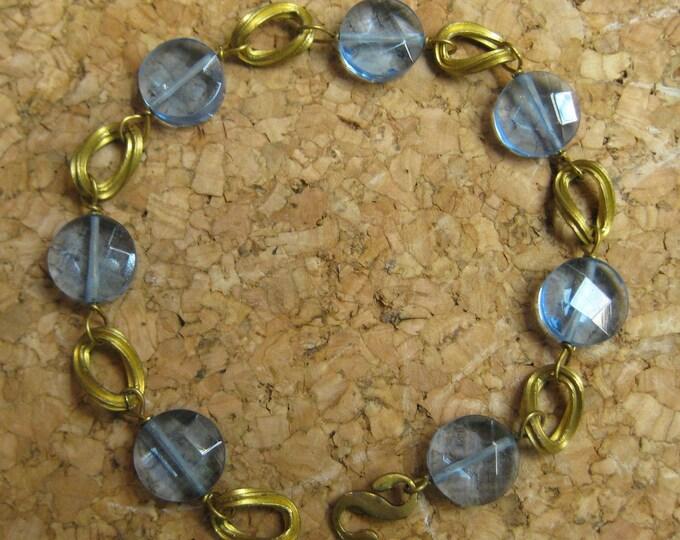 Insouciant Studios Lake Side Bracelet Brass and Lavender Quartz