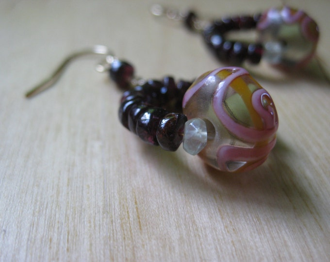 Insouciant Studios Paradise Earrings Floral Lampwork