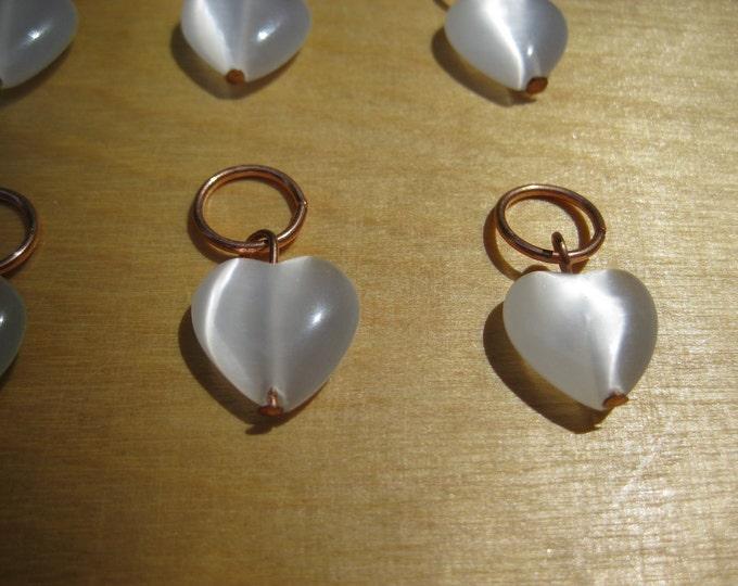 Woolpops Luminous Heart Knitting Stitch Markers