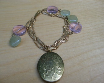 Insouciant Studios Frolic Bracelet Vintage Chain and Locket