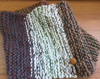 Woolpops Hand Knit Unisex Cotton Wool Pullover Scarf