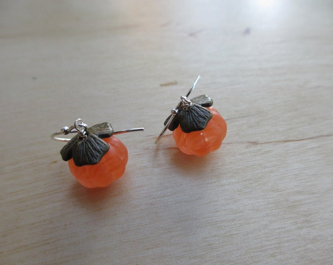 Insouciant Studios Persimmon Earrings Vintage Glass