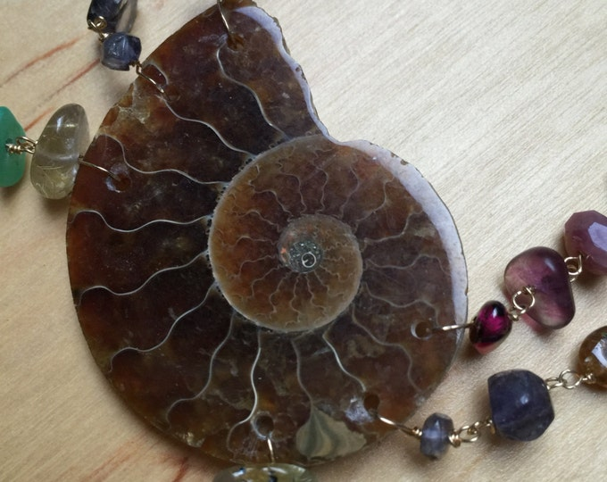 Insouciant Studios Ammonite Gemstone Necklace