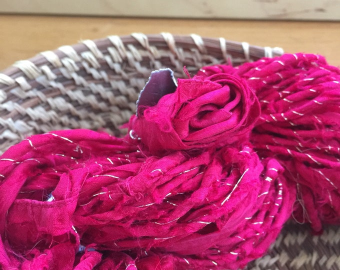Insouciant Studios Hand Spun Silk Yarn Roses are...