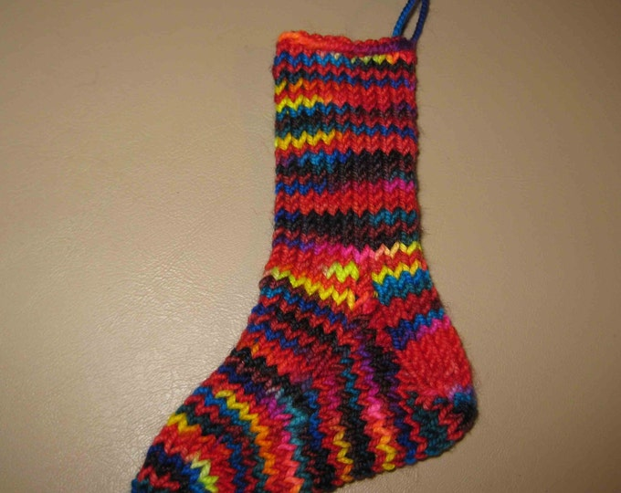 Insouciant Studios Handknit Mini Merino  Sock Stocking Decoration Ornament Baby