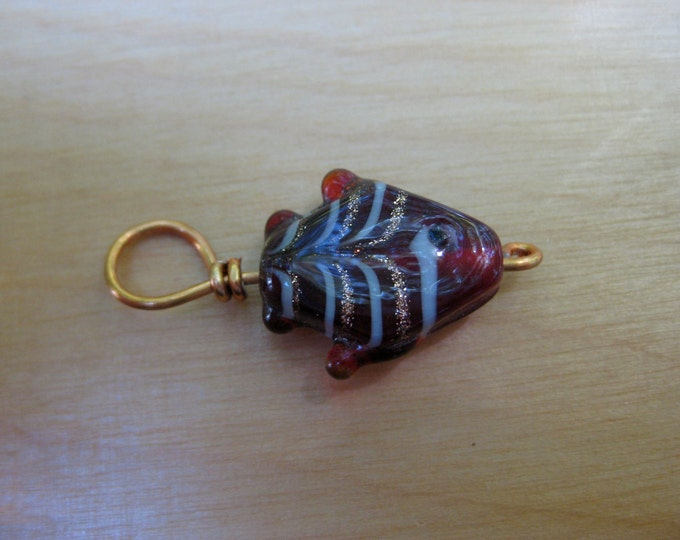 Woolpops Upstream Lampwork Fish Stitch Markers