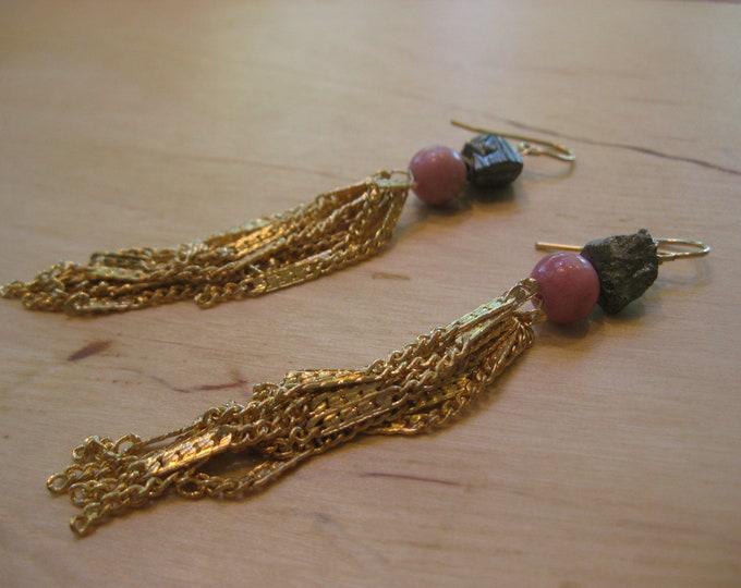 Insouciant Studios Flirty Tassel Earrings Pyrite