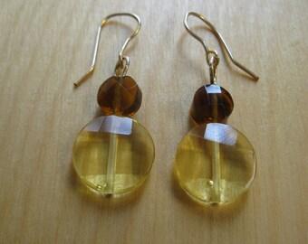 Insouciant Studios Daybreak Earrings Set Yellow  and Ocher