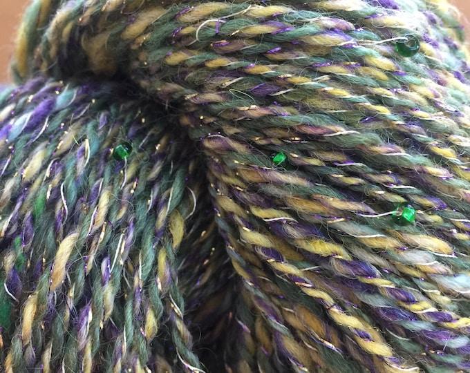 Insouciant Studios Hand Spun Wool Cotton Yarn Mardi Gras