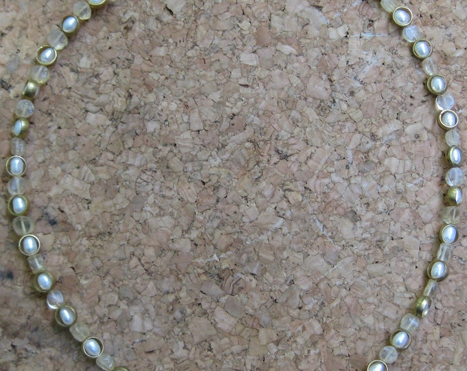 Insouciant Studios Capture Necklace Citrine and Pearl
