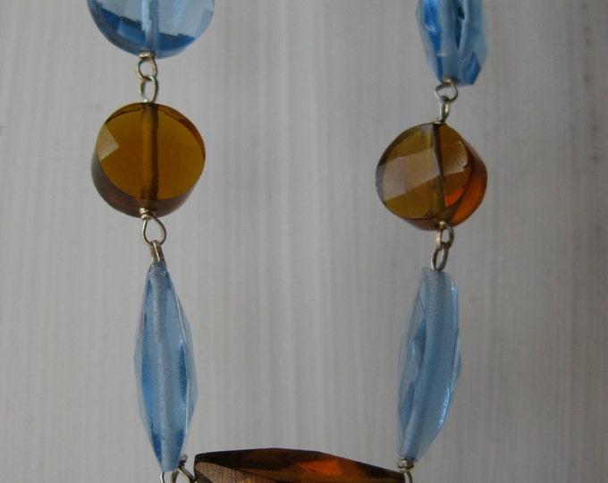 Insouciant Studios Elegant Lavender and Whiskey Quartz Necklace