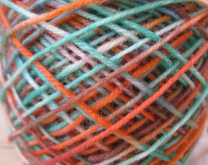Woolpops Hand Dyed Sock Yarn Lake Shasta Colorway