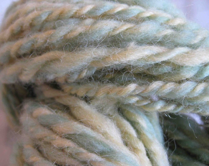 Woolpops Summer Squash 2 Ply Yarn Pale Green and Yellow Wool